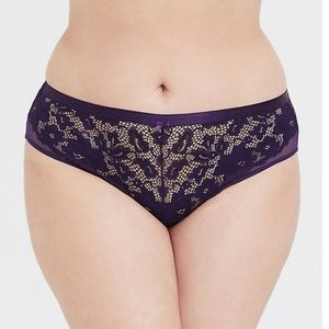 TORRID HIPSTER BLACKBERRY LACE PANTY